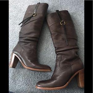 Coach boots - dark brown